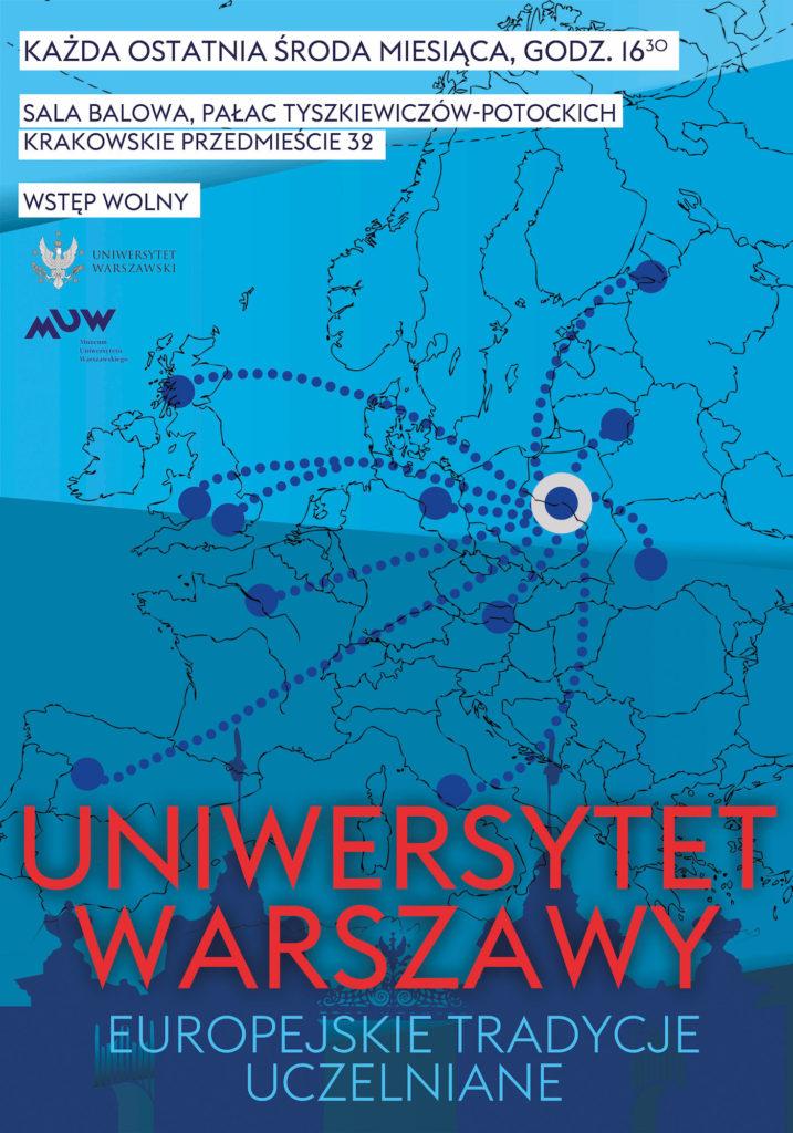 Uniwersytet Warszawy plakat wykłady