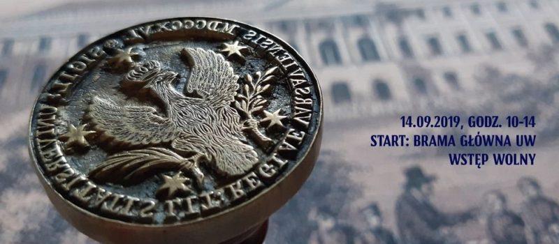 """""""Przypieczętować Niepodległość"""" – gra miejska organizowana przez Varia Fundacja Wydz. Historycznego UW oraz Muzeum UW"""