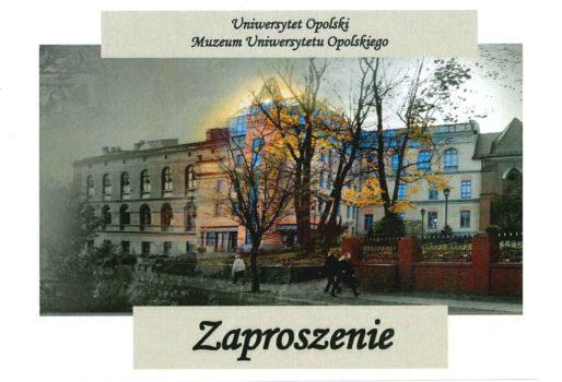 """""""Przestrzeń Opola dziś"""" – wykład w Muzeum UO"""