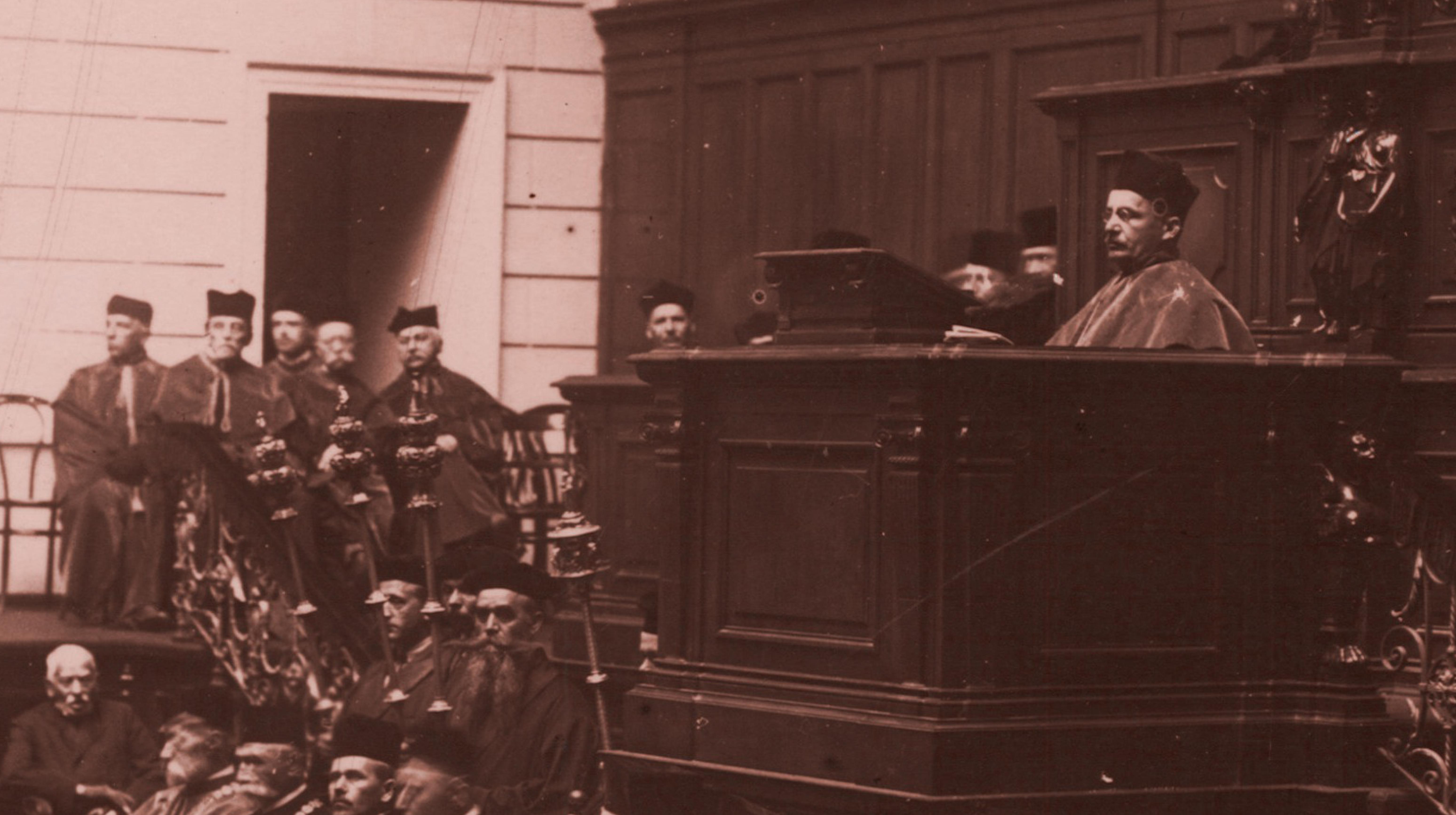 """Wystawa """"Niepodległe uczelnie. Doktorzy honoris causa w Polsce w latach 1918–1939"""""""