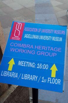 Spotkanie Zarządu Głównego SMU z Coimbra Heritage Working Group w Muzeum UJ