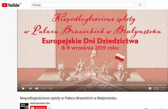 Niepodległościowe sploty w Pałacu Branickich w Białymstoku – relacja filmowa i fotograficzna