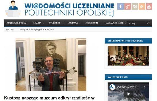 Unikatowy eksponat odkryty w Muzeum M. Skłodowskiej- Curie w Warszawie