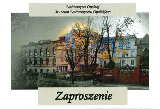 Wykład w Muzeum Uniwersytetu Opolskiego