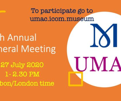 20th UMAC Annual General Meeting online – 27.07.2020