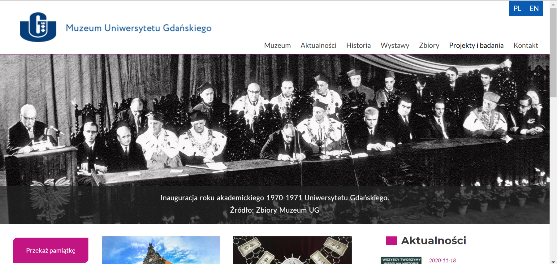 Nowa strona internetowa Muzeum Uniwersytetu Gdańskiego