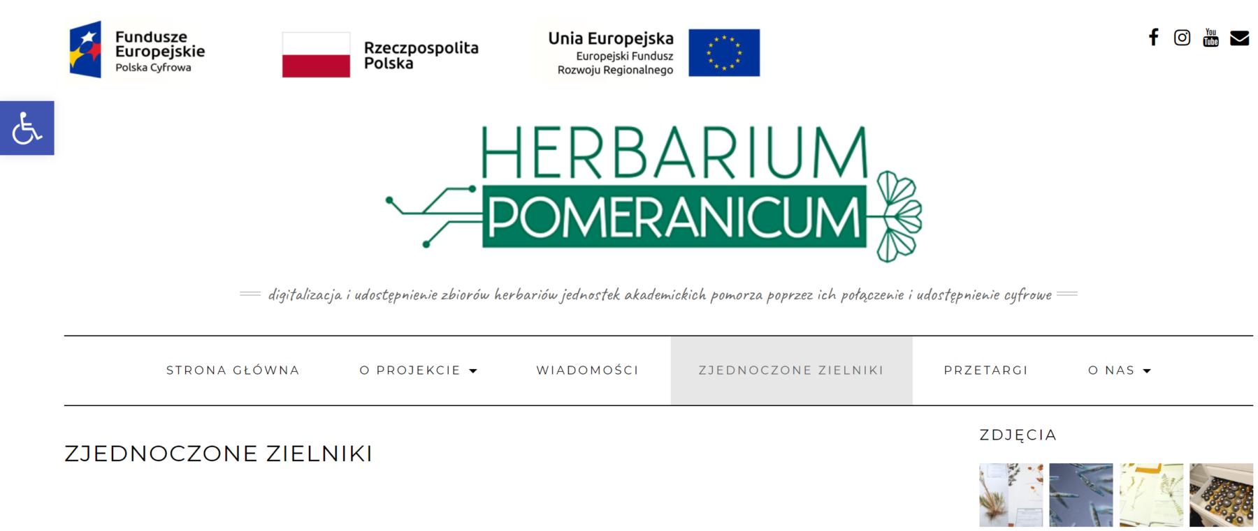 Herbarium Pomorza – udostępnienie zbiorów herbariów jednostek akademickich Pomorza