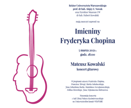 Imieniny Fryderyka Chopina w Muzeum Uniwersytetu Warszawskiego