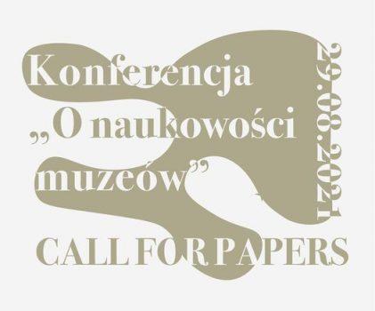 """Konferencja """"O naukowości muzeów"""" – 3-4 grudnia 2021 r."""