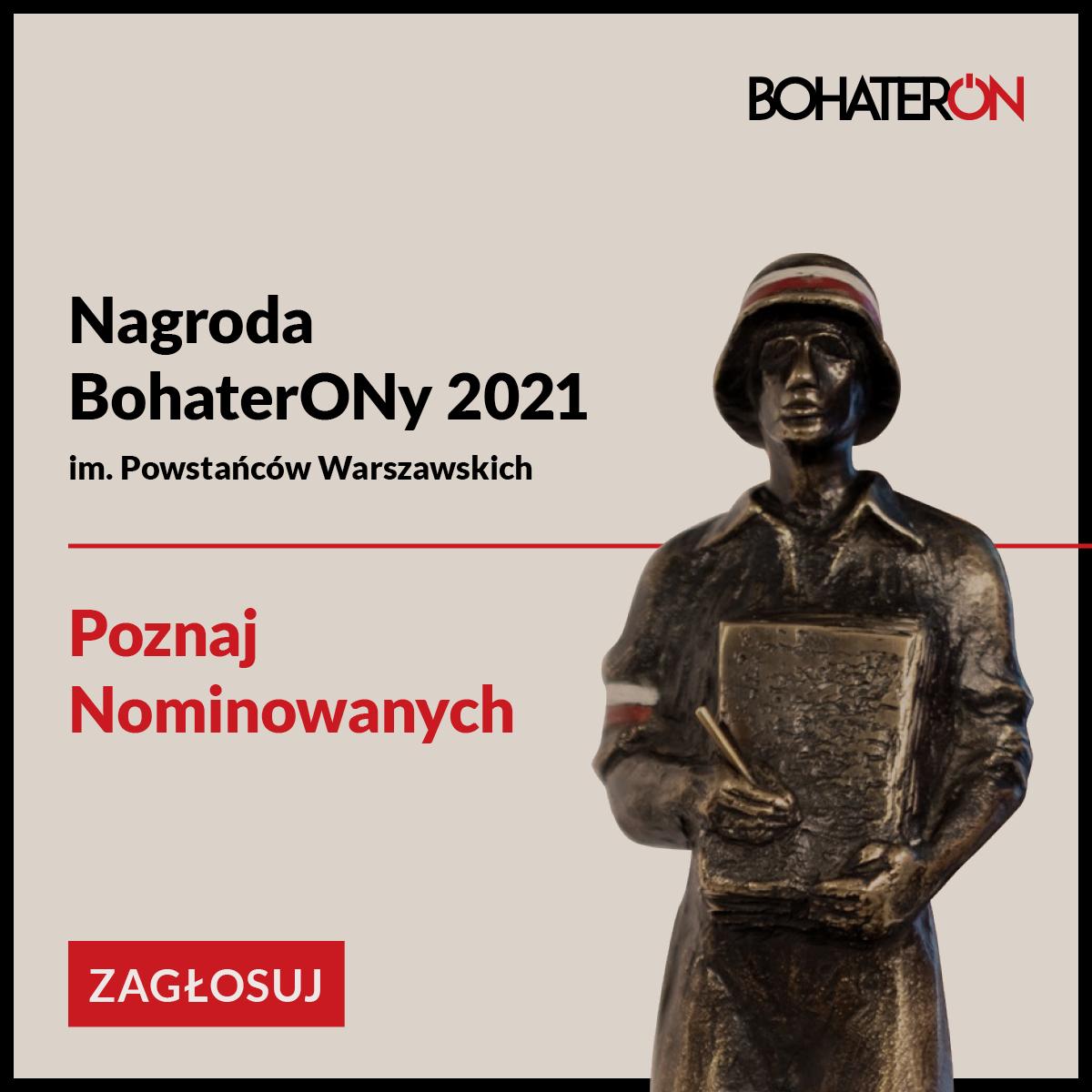 CDZWiP nominowane do nagrody BohaterON 2021